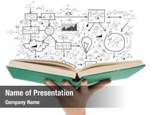 Concept education book close female