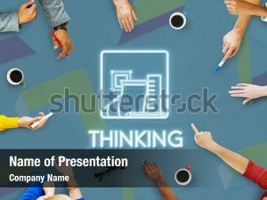 Thinking brain powerpoint background
