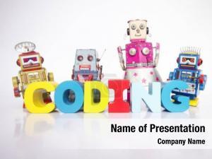 Robots team toy word coding