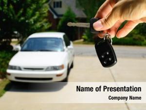 Keys handing over used car