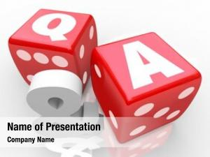 Dice letters red symbolize questions