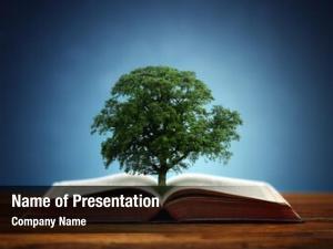 Knowledge book tree concept oak