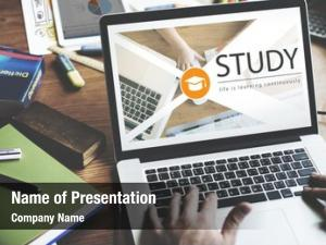 Online distance learning education webpage