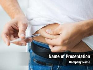 Making man syringe insulin injection