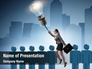 Promotion businesswoman career concept