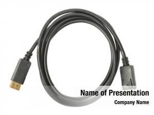 Gold display cable plated connector,