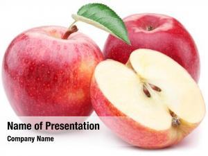 Apple red apple leaf slice