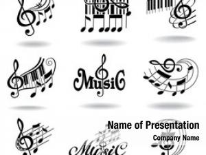 Design set music elements icons