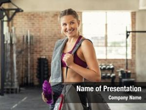 Woman young smiling sportswear carrying