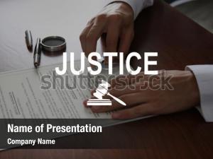 Jurisdiction justice powerpoint template