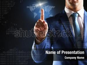 Communication businessman working with virtual