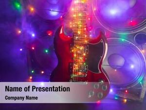 Festive abstract guitar christmas lights
