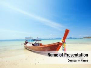 Beautiful longtail boat beach