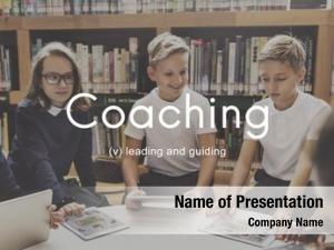 Instructor coaching educating management concept