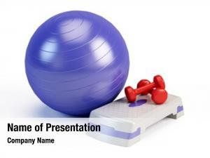 Weights fitness ball, fitness step