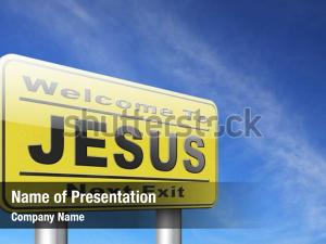 Jesus leading powerpoint template