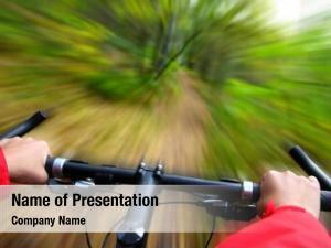 Motion biking forest blurred speed