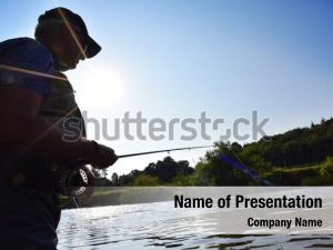 Fisherman in river afternoon