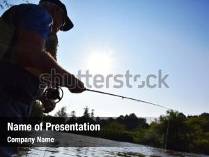 Fisherman in river powerpoint background