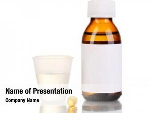 Jigger medical bottle tablets white