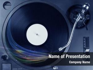 Playing music player vinyl music