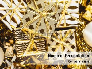 Seasonal christmas decorated golden