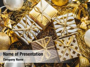 Decorated golden christmas