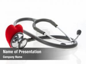 White stethoscope heart