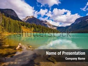 Mountain emerald powerpoint background