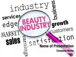 Magnifying beauty industry glass words
