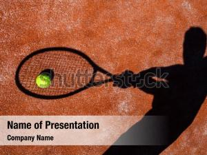 Shadow of a tennis powerpoint template