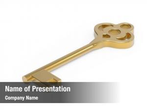 House gold key isoladed white