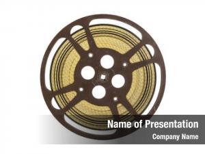 Film vintage movie reel white