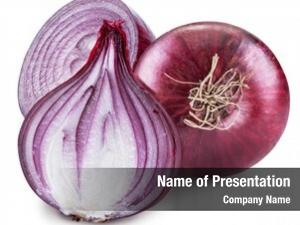 Bulb red onion cross sections