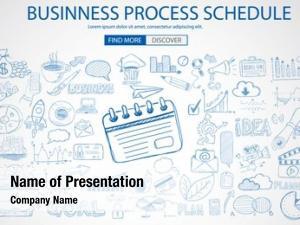 Schedule business process doodle design
