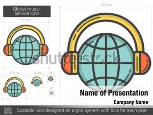 Global music powerpoint template