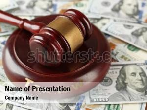Law gavel on dollars