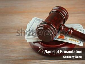 Legislation law gavel with dollars
