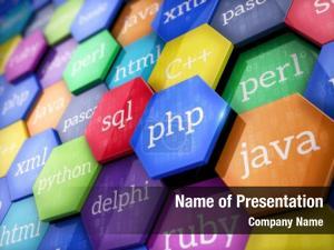 Languages machine code colorful elements