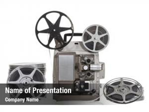 Old vintage film projector clipping