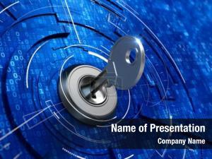 Concept digital security key keyhole