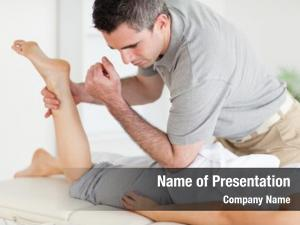 Sports massage leg