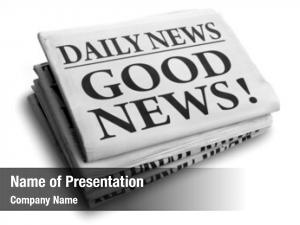 Newspaper daily news headline reading