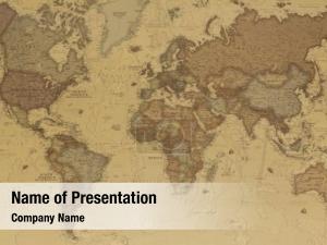 World ancient vintage map
