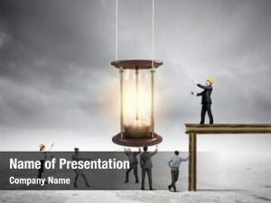 People conceptual business looking sandglass