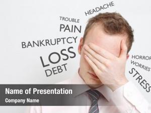 Man depressed business