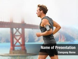Male running man runner san