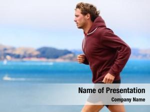 Man runner athlete running sweatshirt