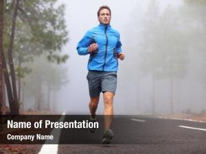 Runner healthy running man workout