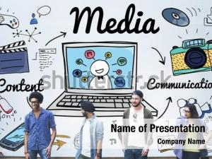 Media multimedia powerpoint template